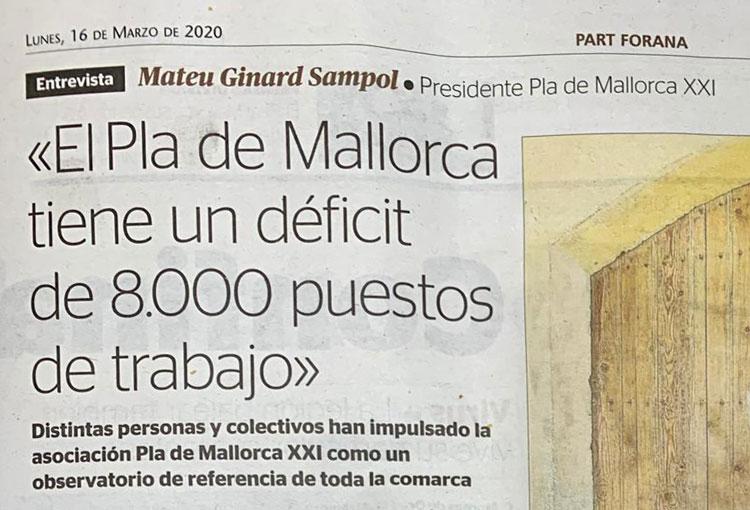 Entrevista Mateu Ginard a Ultima Hora